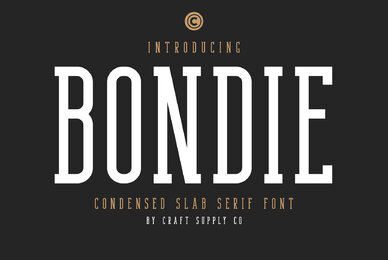 Bondie   Condensed Slab Serif