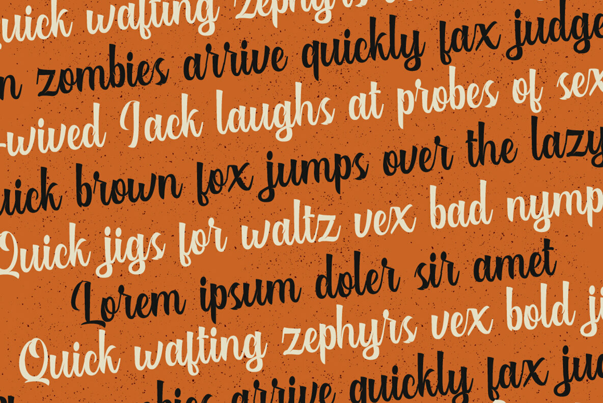 Authentic Layered Font