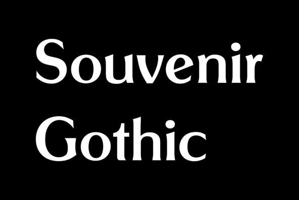 Souvenir Gothic
