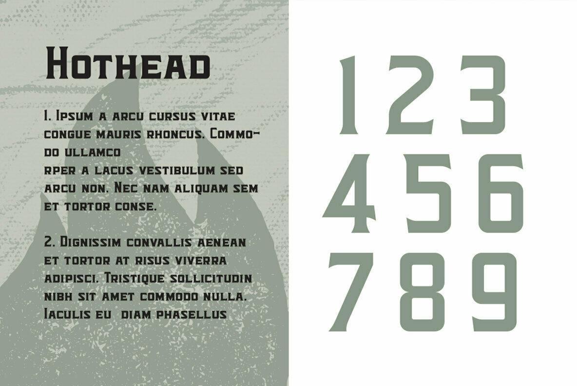 Hothead Typeface