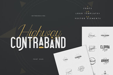 Highway Contraband Font Duo