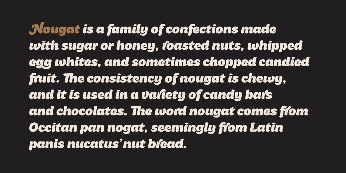 Nougat Script