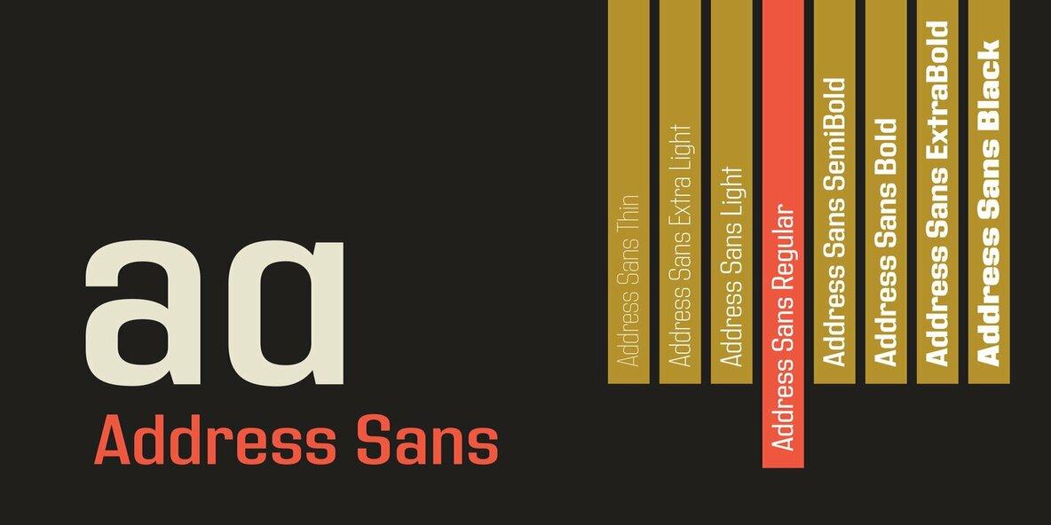 Address Sans Pro