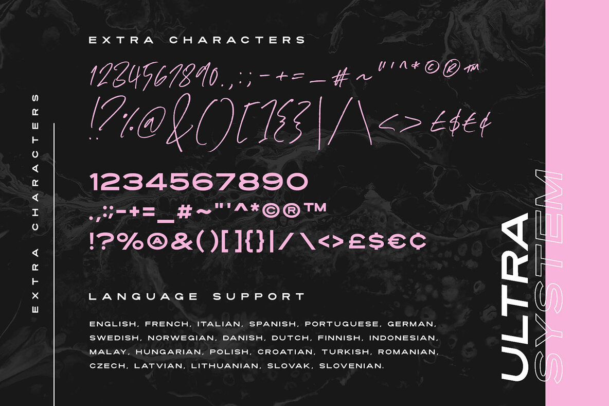 Ultra System Font Duo