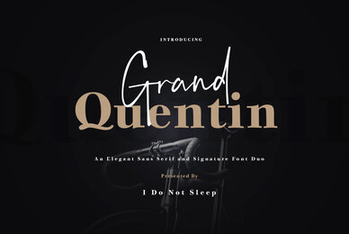 Grand Quentin Font Duo