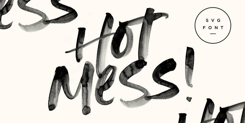 Hot Mess SVG Font