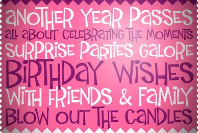 Birthday Wish PB