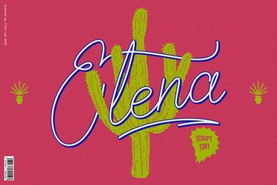 Elena Script Font