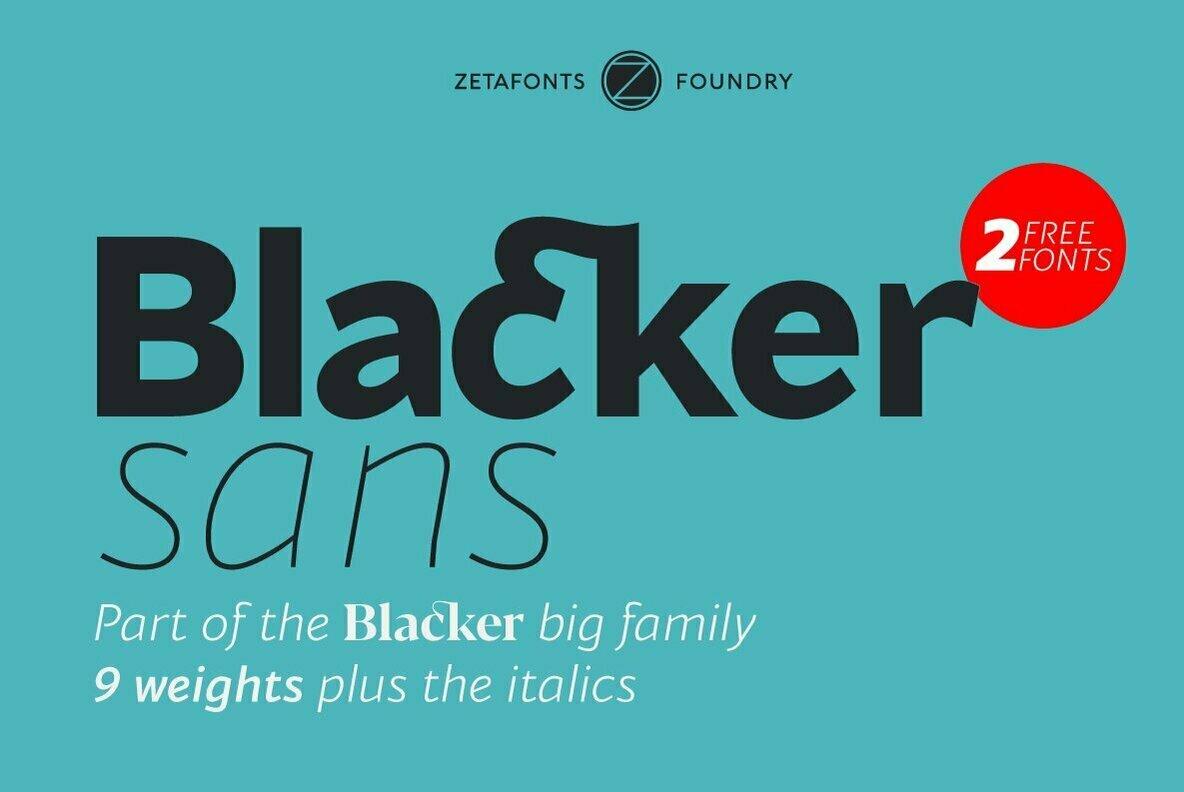 Blacker Sans