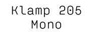 Klamp 205 Mono