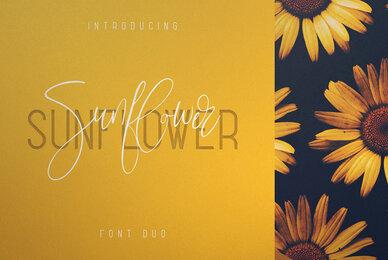 Sunflower Font Duo