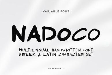 Nadoco Variable Handwritten Font