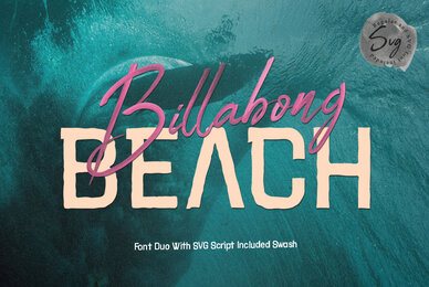 Billabong Beach SVG Font Duo