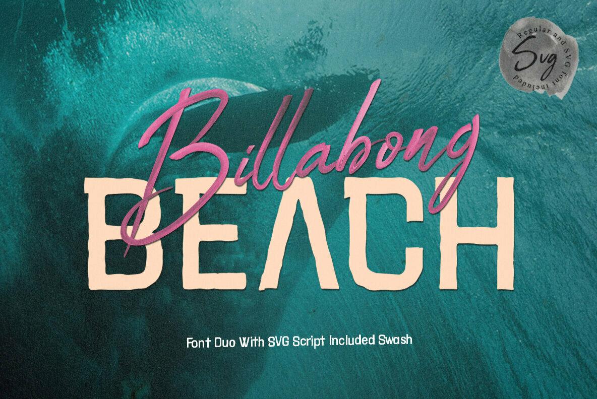 Billabong Beach SVG Font Duo