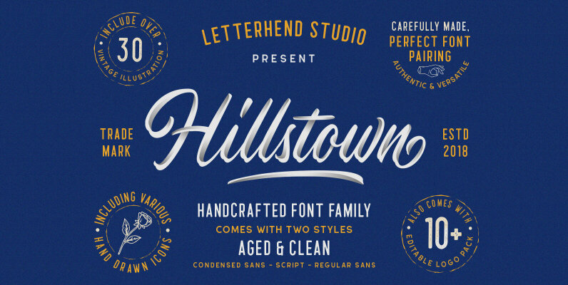 Hillstown Font Collection