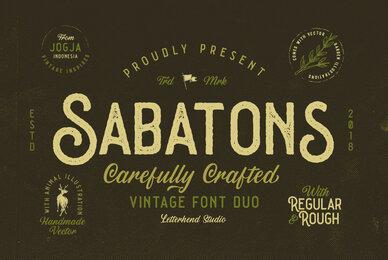 Sabatons Font Duo