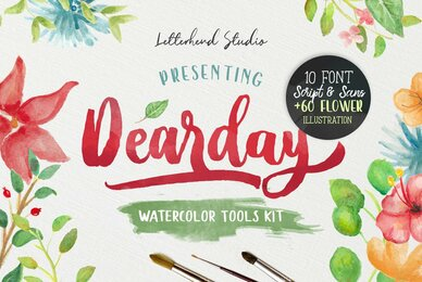 DearDay Watercolor Toolbox