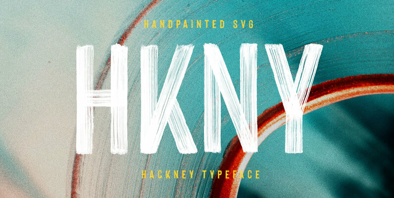 Hackney Hand Painted SVG Font