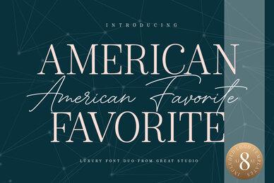 American Favorite Font Duo