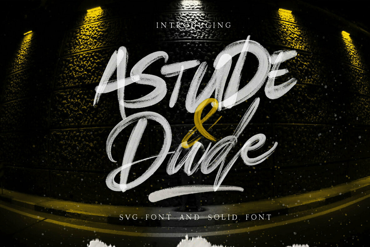Astude and Dude   SVG Font