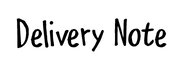 Delivery Note