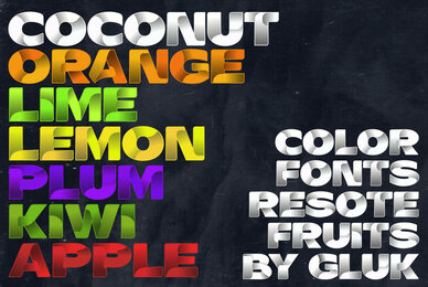 ResotE Fruits Color Font