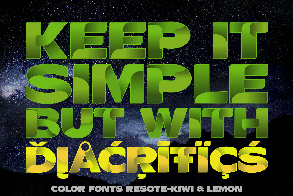 ResotE Fruits Color Font