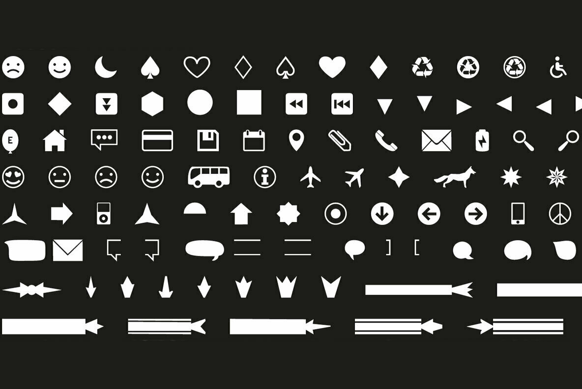 Icons Dingbats Symbols Set