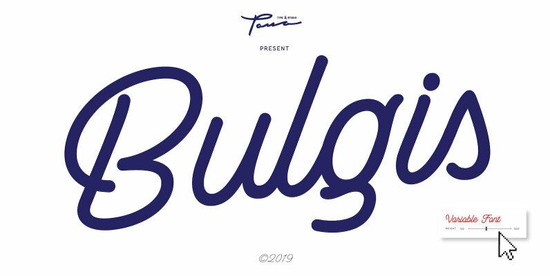 Bulgis Script   Variable Font