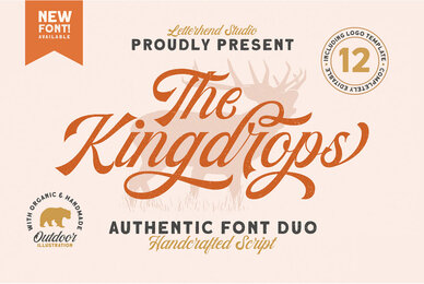 The Kingdrops Font Duo