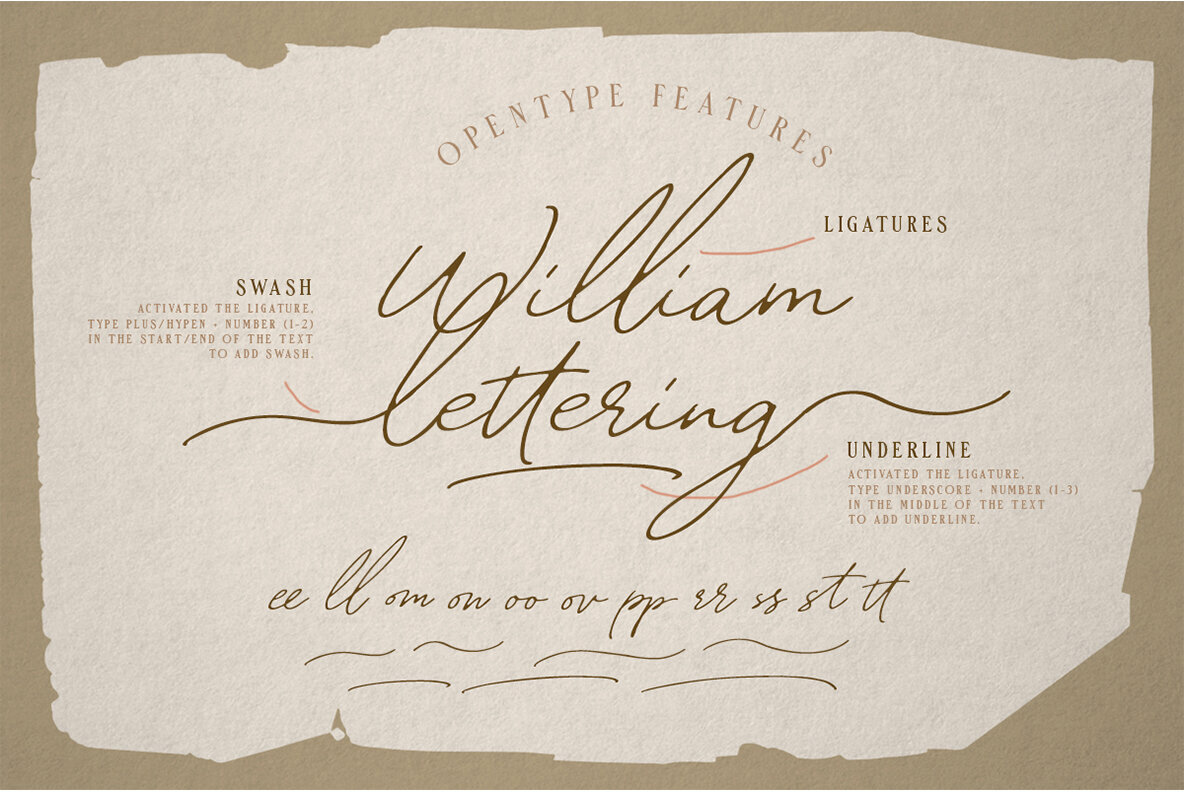 William Letter Font Duo