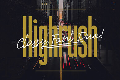Highrush Font Duo