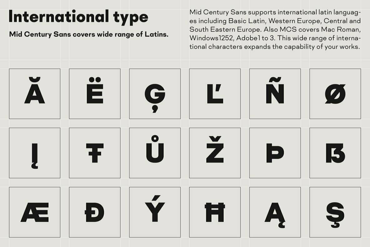 Mid Century Sans