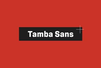 Tamba Sans