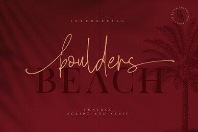 Boulders Beach Font Duo
