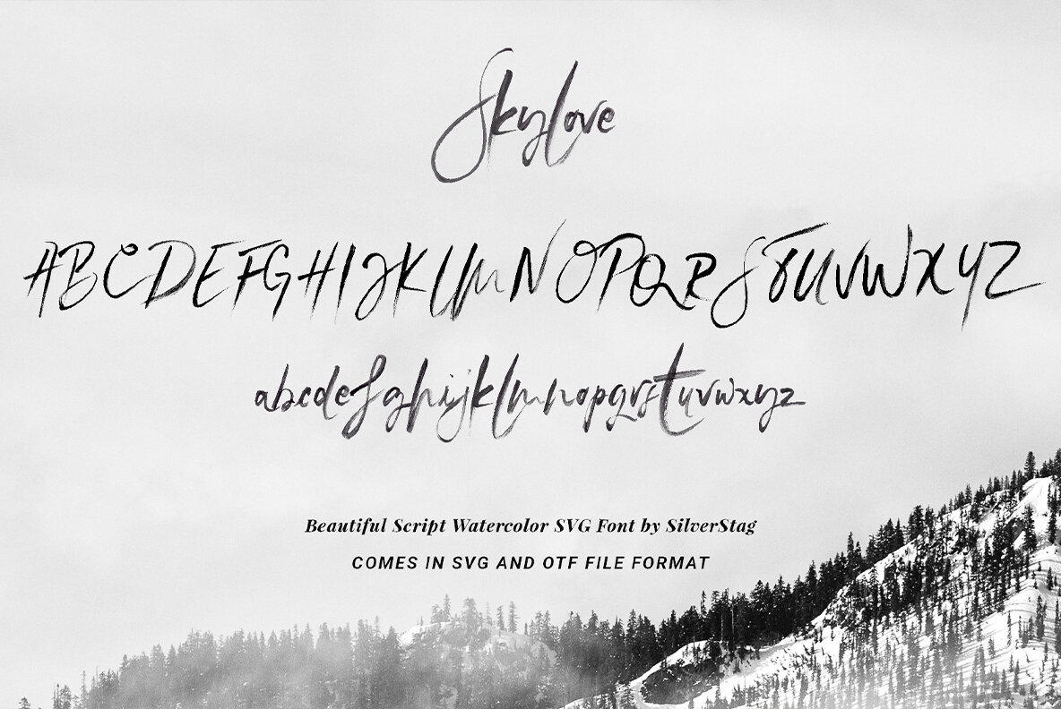 SkyLove   Watercolor SVG Font
