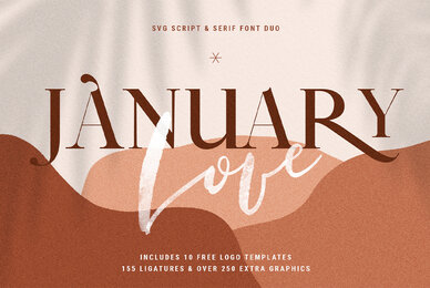 January Love Font Duo