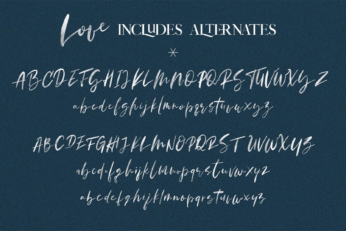 January Love Font Duo
