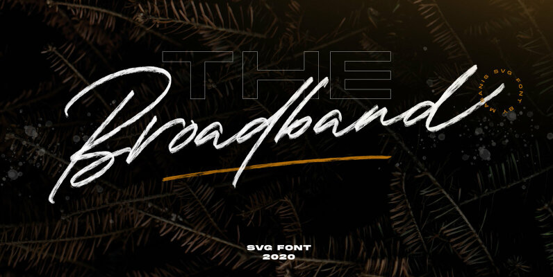 The Broadband   SVG Font