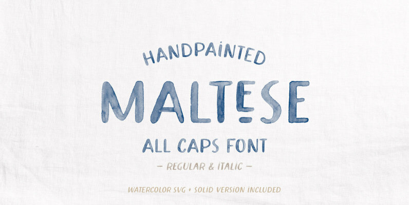 Maltese SVG Watercolor Font
