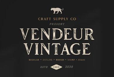 Vendeur Vintage Font Family