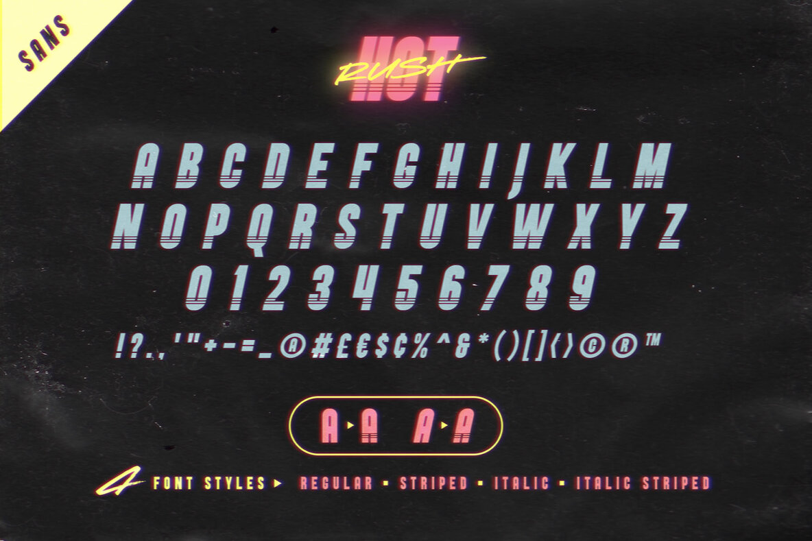 Hot Rush Font Duo