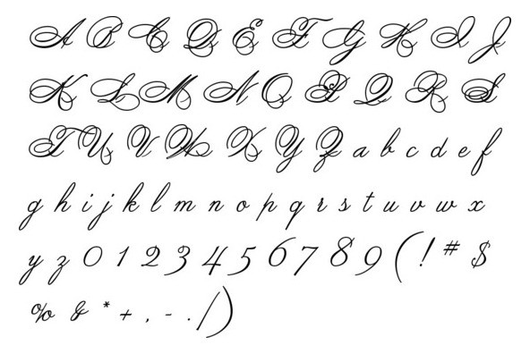 Spencerian By Product Desktop Font Youworkforthem