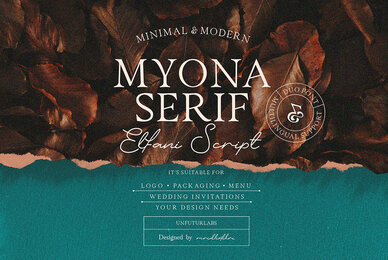Myona Serif and Elfani Script