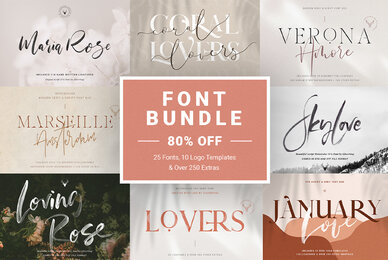 Creative Font Bundle   Limited Time Edition