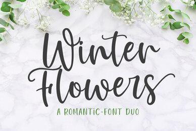 Winter Flowers Font Duo