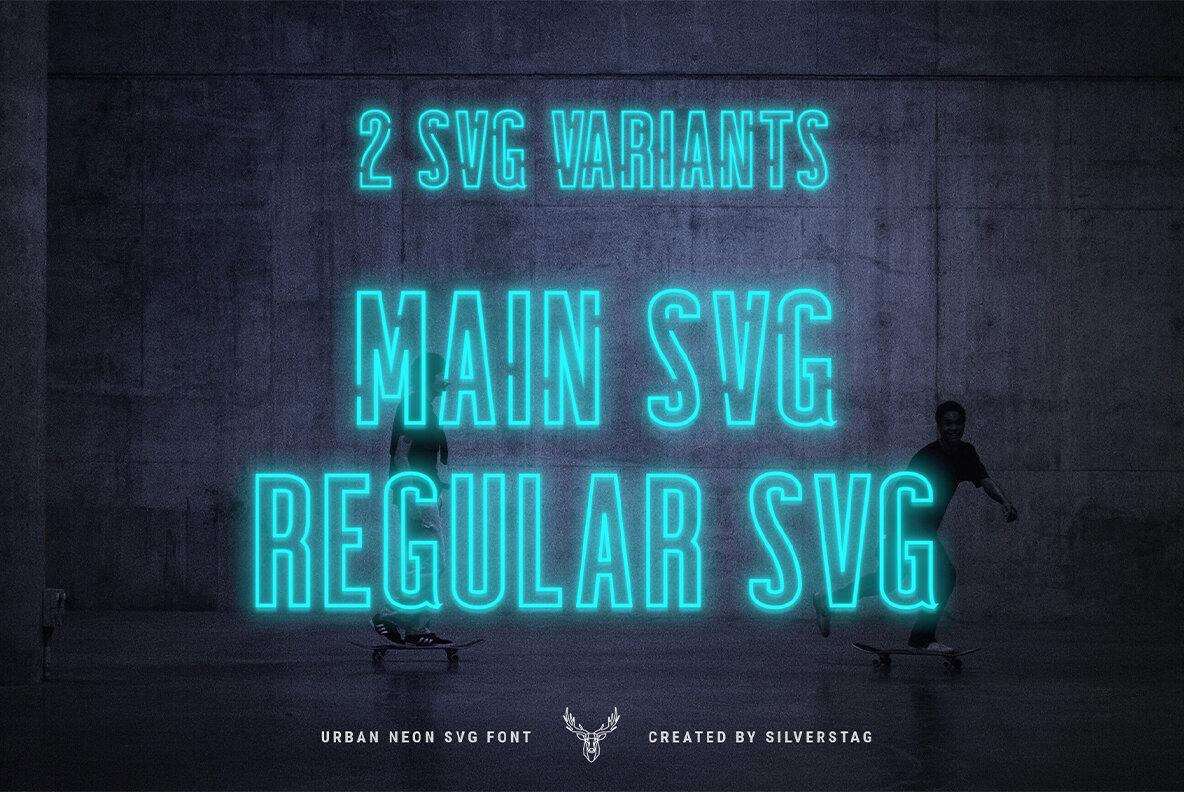 SEVEN NEON SVG Font