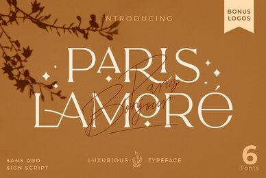 The Paris Lamore Sans  Script
