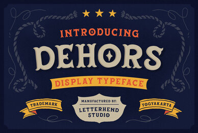 Dehors Display Typeface