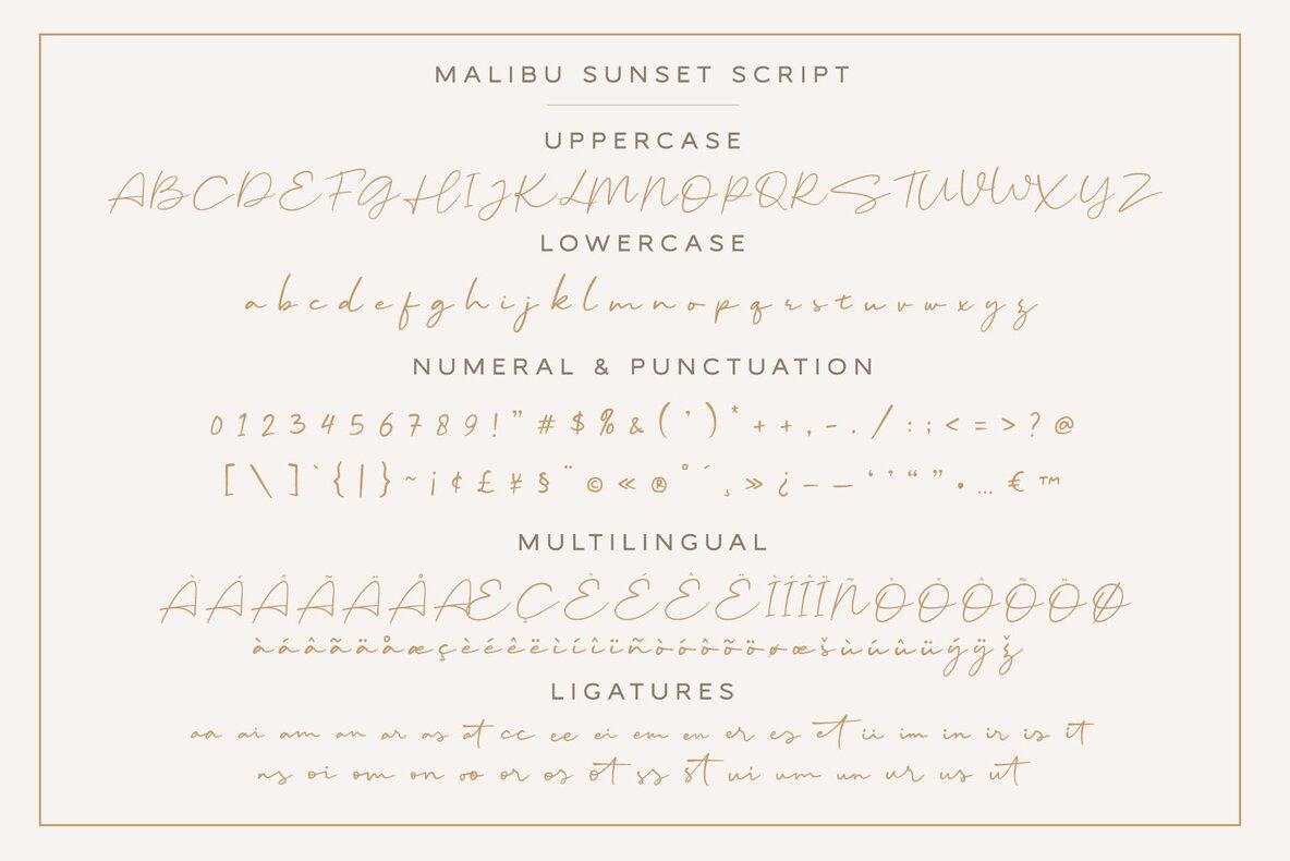 Malibu Sunset Font Duo